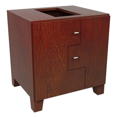 MDV Modular Cabinetry Footed Base Cabinet Finish: Traditional Cherry, Orientation: Left Hand