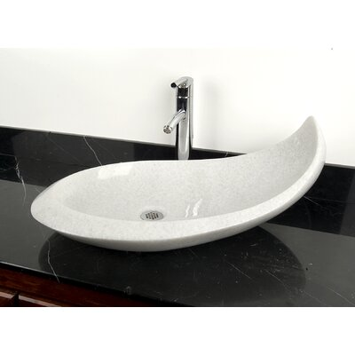 Natural Stone Balena Specialty Vessel Bathroom Sink Sink Finish: White Marble