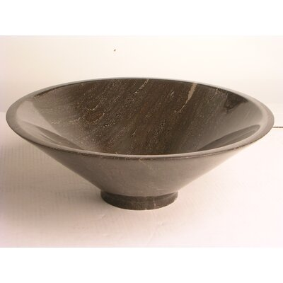 Natural Stone Sinks Stone Circular Vessel Bathroom Sink Sink Finish: Blue Stone