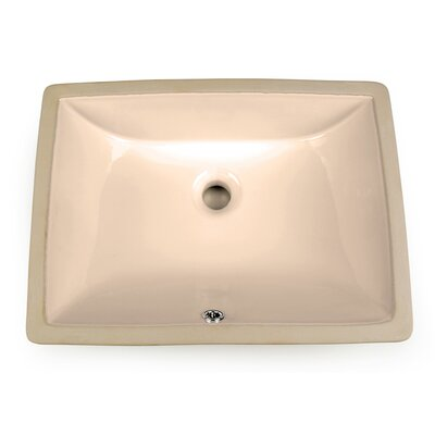 Vitreous China Rectangular Undermount Bathroom Sink with Overflow Color: Bisque