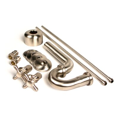 Brass Plumbing Traditional Decorative P-Trap Kit Finish: Satin Nickel