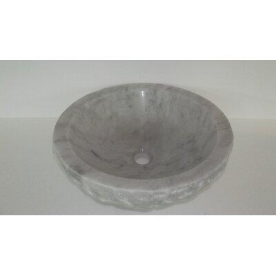 Natural Stone Wabi Sabi Circular Vessel Bathroom Sink Sink Finish: White Marble