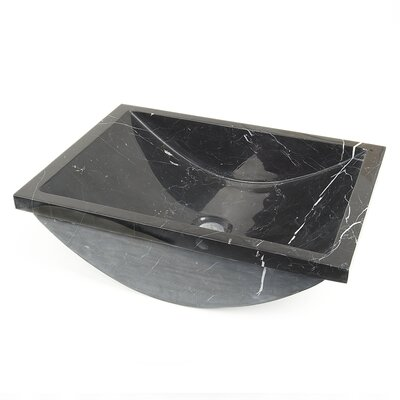 Rectangular Undermount Bathroom Sink Sink Finish: Black Marquine