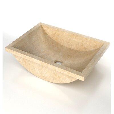 Natural Stone Sinks Stone Rectangular Undermount Bathroom Sink Sink Finish: Galala Marble