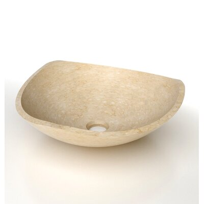 Natural Stone Vertex Circular Vessel Bathroom Sink Sink Finish: Galala Marble