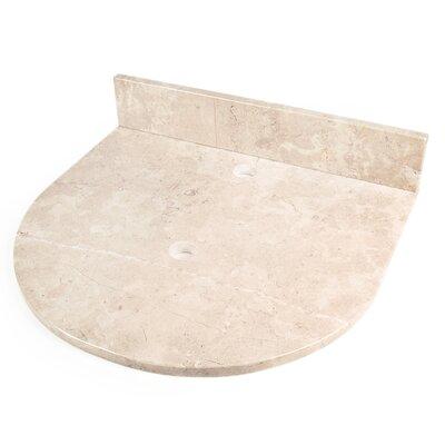 22 Single Bathroom Vanity Top Top Finish: Crema Rossa Marble