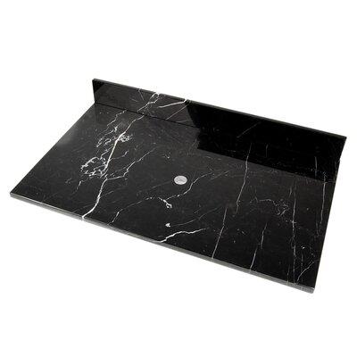 31 Single Bathroom Vanity Top Top Finish: Strata Marble
