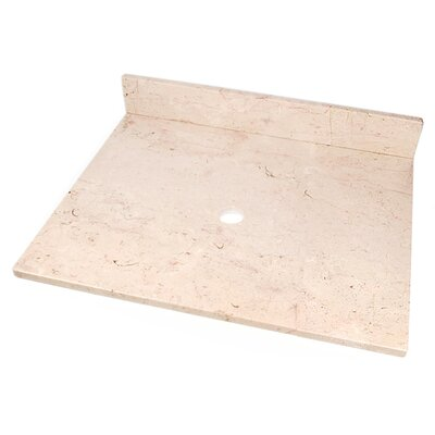 25 Single Bathroom Vanity Top Top Finish: Crema Rosa Marble
