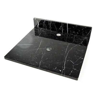 22 Single Bathroom Vanity Top Finish: Black Marquine