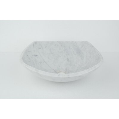 Natural Stone Sinks Stone Circular Vessel Bathroom Sink Sink Finish: White Marble