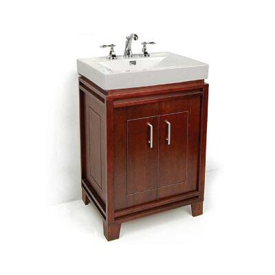 Bartone 24 Vitreous Ensemble Bathroom Vanity Set Base Finish: Walnut