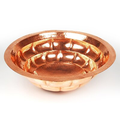 Tortoise Shell Circular Undermount Bathroom Sink Edge: Rolled, Finish: Polished Nickel