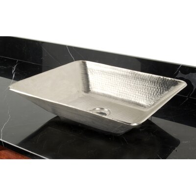 Copper Bathroom Sinks Metal Rectangular Vessel Bathroom Sink Finish: Matte Nickel