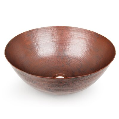 Rimless Circular Vessel Bathroom Sink Finish: Dark Smoke Copper
