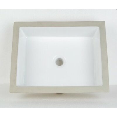 Rectangular Undermount Bathroom Sinks with Overflow Sink Finish: White