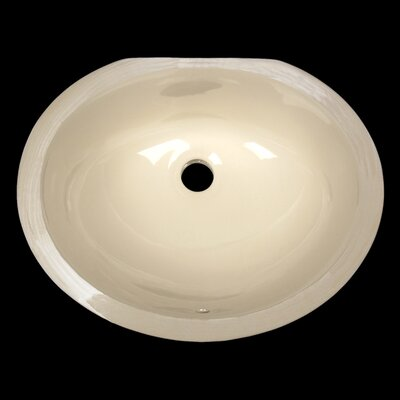 Small China Oval Undermount sink Bathroom Sink Color: Biscuit