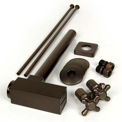 Brass Plumbing Rectangular Bottle P-Trap Kit Finish: Victorian Bronze