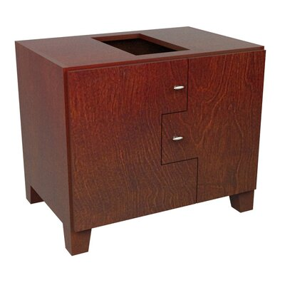 MDV Modular Cabinetry 30 Footed Bathroom Vanity Base Base Finish: Traditional Cherry, Orientation: Left