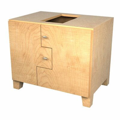 MDV Modular Cabinetry 30 Footed Bathroom Vanity Base Base Finish: Maple, Orientation: Right
