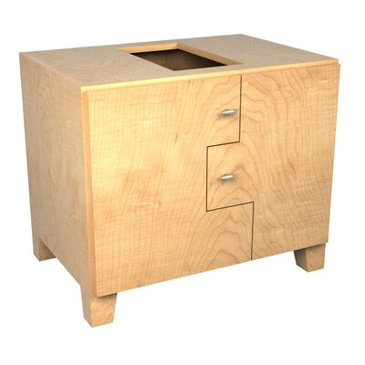 MDV Modular Cabinetry 30 Footed Bathroom Vanity Base Base Finish: Maple, Orientation: Left