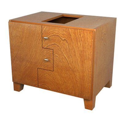 MDV Modular Cabinetry 30 Footed Bathroom Vanity Base Base Finish: Golden Oak, Orientation: Right