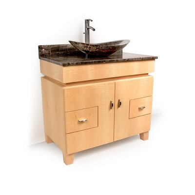 "MDV Modular Cabinetry 36"" Footed Bathroom Vanity Base Base Finish: Golden Oak"