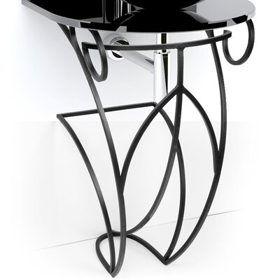 Iron Victoria 17 Single Pedestal Bathroom Vanity Base Base Finish: Black Iron