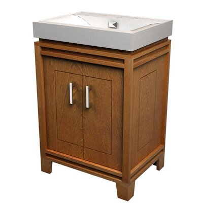 Bartone 24 Vitreous Ensemble Bathroom Vanity Set Base Finish: Golden Oak
