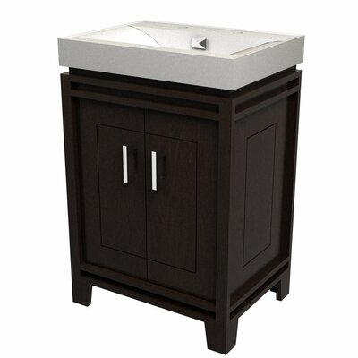 Bartone 24 Vitreous Ensemble Bathroom Vanity Set Base Finish: Espresso