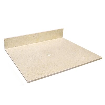 25 Single Bathroom Vanity Top Top Finish: Beige Travertine