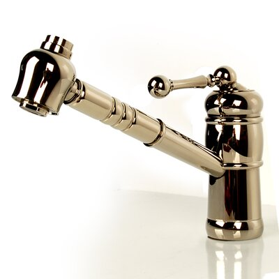 Single Handle Kitchen Faucet with Pull Out Head Finish: Polished Nickel