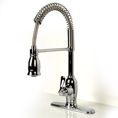 Pull Down Single Handle Kitchen Faucet Finish: Polished Chrome