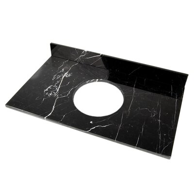 31 Single Bathroom Vanity Top Top Finish: Black Marquine Marble