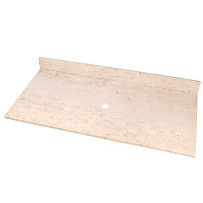 61 Single Bathroom Vanity Top Top Finish: Crema Rosa Marble