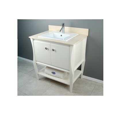 Sahara 31 Single Vanity Set Top Finish: Galala Marble