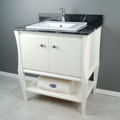 Sahara 31 Single Vanity Set Top Finish: Black Marquine Marble