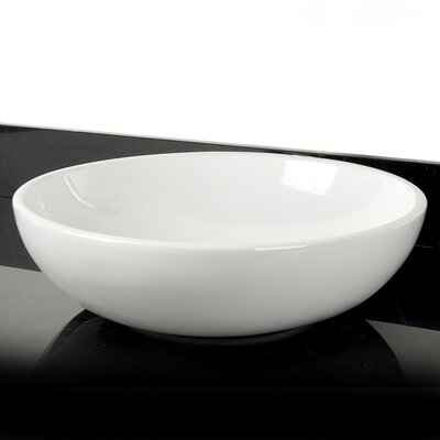 Classic Sphere Vitreous China Circular Vessel Bathroom Sink with Faucet