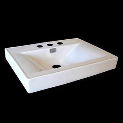 24 Console Bathroom Sink with Overflow