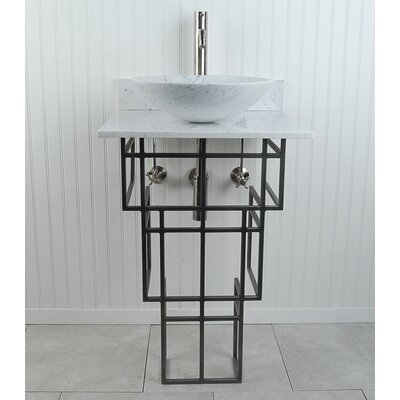 "Mission Sphere 22"" Pedestal Bathroom Sink H3PWWMBSN"