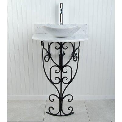 Monterrey Fong 22 Pedestal Bathroom Sink Sink Finish: White
