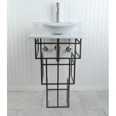 "Mission Fong 22"" Pedestal Bathroom Sink H3PWWMFOSN"