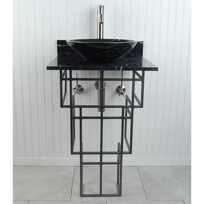"Mission Sphere 22"" Pedestal Bathroom Sink H3PWBMBSN"