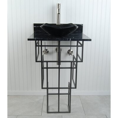 "Mission Fong 22"" Pedestal Bathroom Sink H3PWBMFOSN"