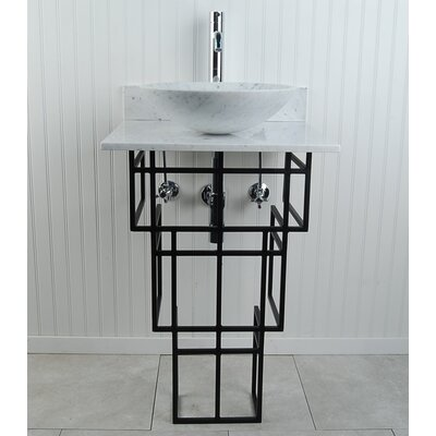 Mission Metal 22 Pedestal Bathroom Sink Sink Finish: White
