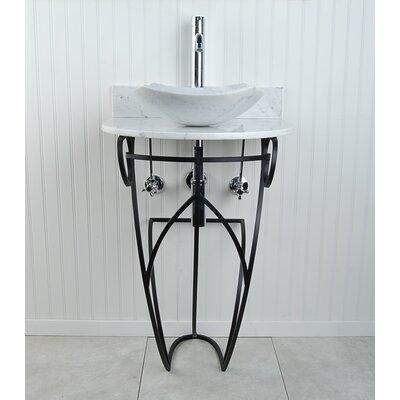 Victoria Fong Metal 22 Pedestal Bathroom Sink Sink Finish: White