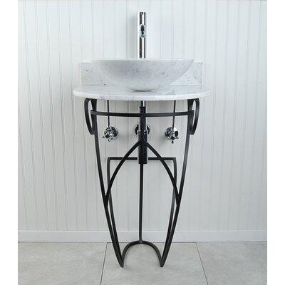 Victoria Sphere 22 Pedestal Bathroom Sink Sink Finish: White