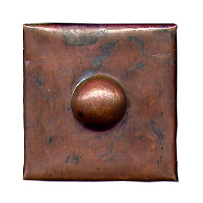 Grommet 2 x 2 Copper Border Tile in Dark Copper