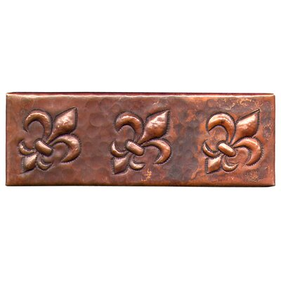 Fleur De Lis 6 x 2 Copper Border Tile in Dark Copper