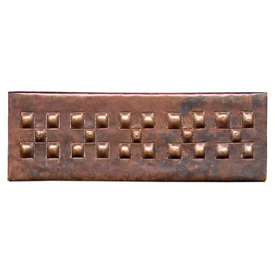 Checker Band 6 x 2 Copper Border Tile in Dark Copper