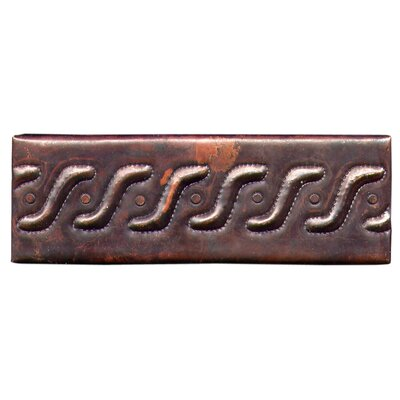 Roman Band 6 x 2 Copper Border Tile in Dark Copper